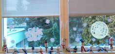Snehuliaci na okne.