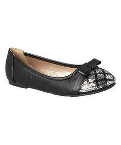 Loving this Black Candice Flat on #zulily! #zulilyfinds