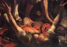 caravaggio conversion on the way to damascus - Google Search