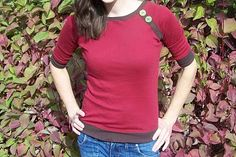Top-toberfest Day Three: Bands and Buttons Raglan Top