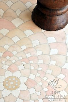 Ever Expanding Lotus, a natural stone waterjet mosaic by Tucker Robbins for New Ravenna Mosaics.