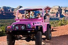Coyote Canyons By Pink Jeep Tours. Jeep Tours in Sedona, Arizona Sedona Tours, Visit Sedona, Pink Mobile, Pink Jeep, Pink Truck, Girly Car, My Ride, Night Life, Pretty In Pink