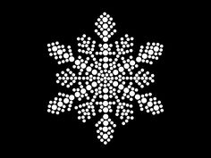 Blingworx -#HotFix #Diamante #Snow Flakes #Christmas Transfer iron on motif for t-shirts bags - Flake 5