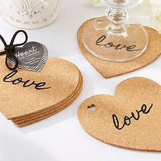 Heart Cork Wedding Coasters are a fun and useful wedding or bridal shower favor that your guests will truly appreciate. Heart Cork Coasters include four coasters made from cork with the word Creative Wedding Favors, Unique Wedding Favors, Unique Weddings, Wedding Gifts, Wedding Ideas, Wedding Centerpieces, Wedding Decor, Homemade Wedding Favors, Wedding Keepsakes