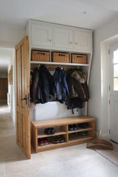 7 Tips for Hallway Storage When You Have Limited Space - Yorkshire Post Decor, Boot Room, Mudroom, Room Design, Home, Hallway Storage, Hall Cupboard, Mudroom Design, Mudroom Laundry Room