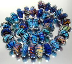 "Sistersbeads ""Vortex"" Handmade Lampwork Beads"