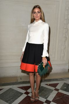 Olivia Palermo attends the Valentino show as part of Paris Fashion Week - Haute Couture Fall/Winter 2014-2015 at Hotel Salomon de Rothschild on July 9, 2014 in Paris, France.