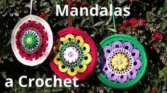 Como tejer un Mandala en tejido crochet o ganchillo tutorial paso a paso.