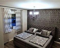 Moderne kreative Gardinen individuellen by GARDINANWELTANGELINA Sliding Curtains, Curtain Sets, Mattress, Living Room, Mirror, Bed, Etsy, Furniture, Home Decor