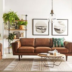 Ideas Apartment Decorating Brown Living Room Leather Sofas For 2019 Scandinavian Design Living Room, Brown Living Room, Small Living Room Design, Living Room Scandinavian, Living Room Leather, Apartment Living Room, Leather Couches Living Room, Brown Sofa Living Room, Leather Sofa Living Room