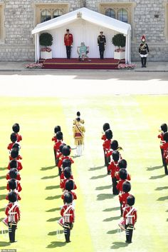 Soldiers of 1st Battalion Welsh Guards - whose Colour was due to be Trooped this year - ca... Buckingham Palace Garden Party, Queen's Official Birthday, Trooping Of The Colour, Autumn Phillips, Non Commissioned Officer, Duke Of York, Kingdom Of Great Britain, Duke Of Cambridge, Windsor Castle