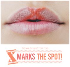 A little lip trick for you! Click twice on the picture to check it out! <-- I tried this and it really made a world of difference. Thanks, The Beauty Department!!