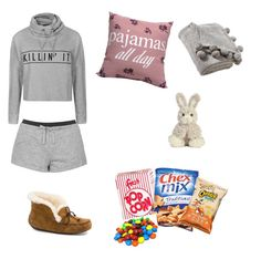 """""""Pjs"""" by sopluvesonedirection ❤ liked on Polyvore featuring UGG Australia, Ally Fashion, Topshop and Victoria Classics"""