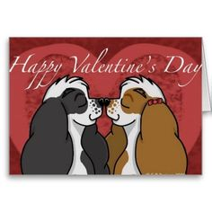 Shop Valentines Parti Cocker Spaniel Holiday Card created by divalizzie. Black Cocker Spaniel, American Cocker Spaniel, Cocker Spaniel Puppies, Cocker Dog, Valentines Day Greetings, Happy Valentines Day, Cheap Dog Food, Puppy Love, Holiday Cards