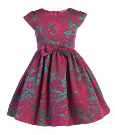 Gorgeous Fuchsia floral jacquard dress, perfect for flower girl, wedding, Christmas, Easter and other special occasions. African Dresses For Kids, Baby African Clothes, Latest African Fashion Dresses, Baby Girl Party Dresses, Wedding Dresses For Girls, Kids Outfits Girls, Toddler Girl Outfits, Cute Kids Fashion, Girl Fashion