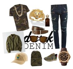 """Dark-camo"" by bobby-seale ❤ liked on Polyvore featuring Balmain, Valentino, Palm Beach Jewelry, Bally, American Eagle Outfitters, Cartier, Gucci, Clive Christian, men's fashion and menswear"