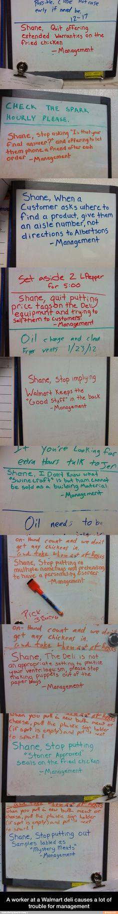 Some dude in the deli section at walmart causes management a LOT of trouble...