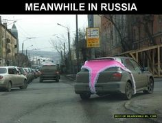 """shitty-car-mods-daily: """"I wonder if the underwear is silk or cotton? via Shitty_Car_Mods """" Meanwhile In Russia, Funny Jokes, Hilarious, Darwin Awards, Picture Fails, Car Mods, Car Crash, Car Humor, Pranks"""