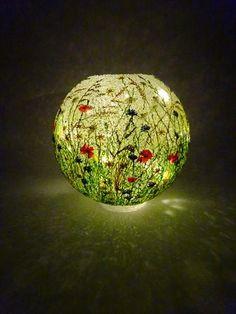 Illuminated Meadow by Paula Horsley. 3d pen light sculpture.