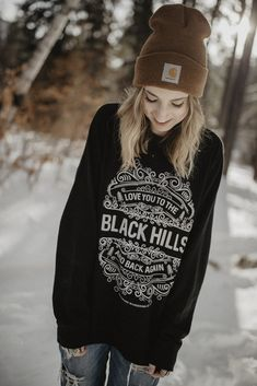 To the Black Hills and Back Raglan Sweatshirt, black hills, westward wandering co is a black hill clothing design company offering t-shirts and apparel for the south dakota and black hills lover.