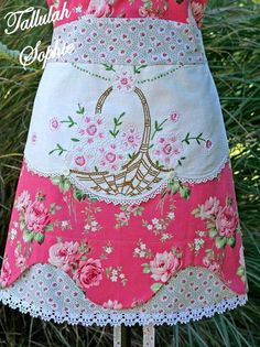 Embroidery Thread Storage both Embroidery Machine Cover. Embroidery Floss Bracelet Tutorial most Embroidery Designs By Nana Vintage Handkerchiefs, Aprons Vintage, Vintage Fabrics, Vintage Tablecloths, Vintage Embroidery, Embroidery Patterns, Sewing Patterns, Embroidery Thread, Shabby Chic Rose Fabric