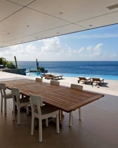 a perfect spot to dine and watch the waves #JSBeachDining ...The outdoor dining area is perfect for long, lazy lunches by the pool. #Jetsetter