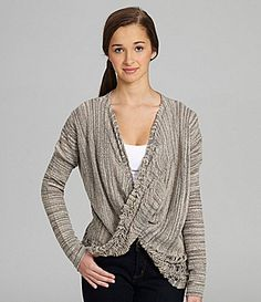 Jessica Simpson Jeanswear Kitty DrapedFront Sweater #Dillards