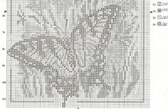 Caballos,Abecedarios punto de cruz graficos gratis y mucho mas... Butterfly Cross Stitch, Butterfly Wings, Filet Crochet, Needlework, Butterflies, Graphics, Free, Throw Pillows, Insects