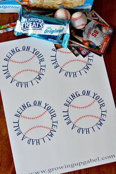 Say thanks to your little slugger's team with a fun sports team gift and these baseball printables!