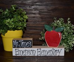 Personalized Teacher Appreciation Gift Name Plate Wedding Gift for Teacher Personalized Teacher Gift End of School Gift Name Plaque