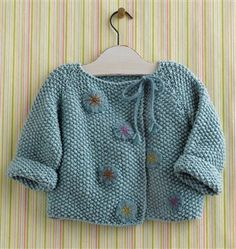 Precious baby jacket by Mags Kandis - gifted: beautiful small Kostbare Babyjacke von Mags Kandis – Begabt: Schöne Kleinigkeiten zum Stricken … Precious baby jacket by Mags Kandis – gifted: nice little things for knitting and …, Source by Jacket Knitting Daily, Knitting For Kids, Baby Knitting Patterns, Baby Patterns, Knitting Tutorials, Clothes Patterns, Pull Bebe, Knitted Baby Cardigan, Knit Baby Sweaters