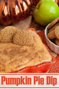 Only 5 ingredients! Easy dessert dip recipe tastes just like pumpkin pie. This cream cheese pumpkin dip will be the star of your fall or Halloween party.Serve with ginger snaps, apples, or graham crackers. Great idea for a no bake dessert for Thanksgiving too. #pumpkin #pumpkinspice #fall #dip #dessert #nobake #halloween #thanksgiving #sweets No Bake Pumpkin Pie, Easy Pumpkin Pie, Cheese Pumpkin, Cooking Pumpkin, Baked Pumpkin, Pumpkin Dessert, Pumpkin Recipes, Dessert Dips, No Bake Desserts