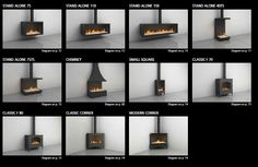 gas fireplaces stand alone - Google Search