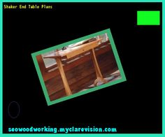 Shaker End Table Plans 104040 - Woodworking Plans and Projects!