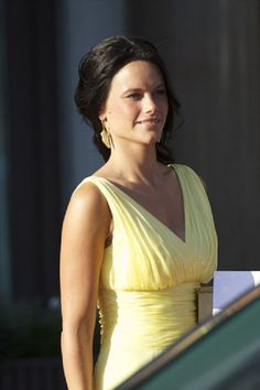 Sofia Hellqvist (Prince Carl Philip gf) attends a private dinner in Stockholm hosted by King Carl Gustaf and Queen Silvia at The Grand Hotel on 7 June 2013