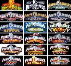 all Power Rangers Power Rangers Movie Suits, Power Rangers Logo, Power Rangers Jungle Fury, Power Rangers Figures, Power Rangers Samurai, Go Go Power Rangers, Power Rangers Timeline, Adele, Power Rangers Megaforce