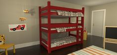 LOVE the simplicity and that's it's all one piece instead of beds on top of each other.