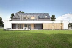 Dom jednorodzinny w Tulcach koło Poznania. Projekt: CONDE