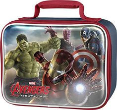 Amazon.com: Marvel AVCOR22ZA Avengers Lunch Kit, Blue: Kitchen & Dining