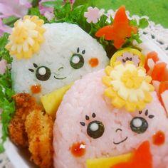 Too cute to eat? Dandelion hat onigiri