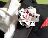 Luck Be a Lady Poker Card Boutonniere (Mixed Suite)