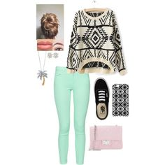 Movie Date by akb4572 on Polyvore featuring polyvore, fashion, style, French Connection, Vans, Design Inverso, Palm Beach Jewelry and Uncommon
