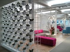 Jazz up your waiting area or break out areas with vertical garden walls by Green Design. www.greendesign.com.au