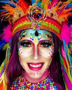 Halloween Makeup For Kids, Kids Makeup, Bridal Hair And Makeup, Wedding Makeup, Purple Makeup Looks, Leopard Makeup, Pageant Makeup, Halloween Series, Halloween Tutorial
