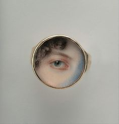 'Lover's Eye' Jewelry Was the Perfect Accessory for Secret Affairs : Eye of Maria Miles Heyward, painted by Edward Greene Malbone, c. Birmingham Museum Of Art, La Danse Macabre, Lovers Eyes, Miniature Portraits, Miniature Paintings, Romantic Gestures, Mourning Jewelry, Eye Painting, Eye Jewelry