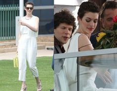 Anne Hathaway In Theory jumpsuit - 'Rio 2′ Miami Press Tour. Re-tweet and favorite it here: https://twitter.com/MyFashBlog/status/447929506947280896/photo/1
