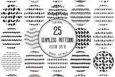 Set of 25 seamless patterns by SomStock on /Volumes/Marketing/_MOM/Design Freebies/Creative Market Business Brochure, Business Card Logo, Vector Pattern, Pattern Design, Design Poster, Graphic Design, Free Graphics, Stationery Paper, Creative Sketches