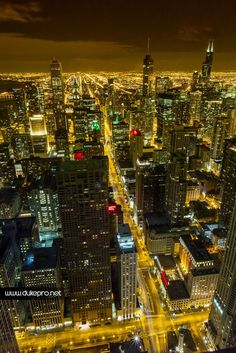 Chicago by night by DukePro Studio on 500px