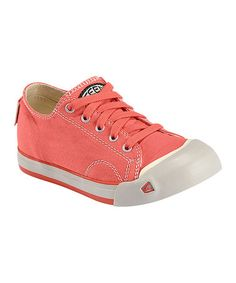 Take a look at this Hot Coral & Pumice Stone Coronado Lace Sneaker - Kids by KEEN on #zulily today!