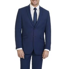 Adolfo Slim Fit Motion Stretch Men's Weave 2 Button Suit Separate Jacket